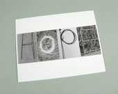 hope eco-friendly postcard (100 percent recycled paper)