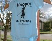 SALE- Organic Baby Jumper- Hooper In Training