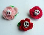 Handmade Felt Flower Hair Barrettes
