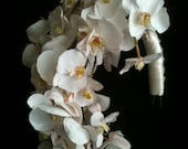 GORGEOUS extremely life-like 100 percent white phalaenopsis bridal bouquet