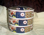 IMARI stackable bowls, RESERVED for Lynn