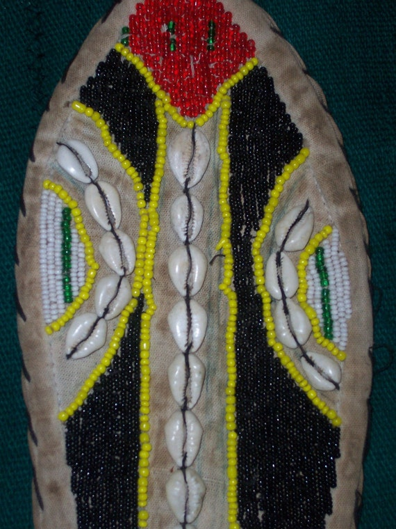 African Art Beaded Belt Yoruba Ibo Lizard Multicolor