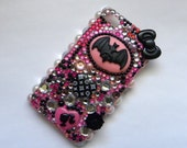 Black Bat   iPhone 4 / 4s / 4G  Bling Decoden Phone Case