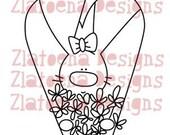 Rabbit with daisies