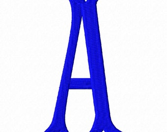 Fishtail font embroidery design letters 3 sizes