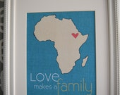 Digital adoption print Love makes a Family 8 x 10 print ANY COUNTRY