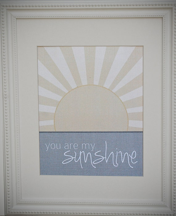 Instant Download: Digital 8x10 nursery print you are my sunshine
