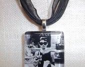 Audrey Hepburn Holly Golightly Breakfast at Tiffany's Glass Tile Pendant Necklace