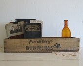 Antique Tool Crate, Armstrong Bros. Tools Circa 1910s, Rustic Home Decor & Storage
