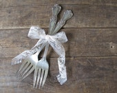 "Vintage ""Y"" Monogrammed Silverplate Dinner Forks (Set of 2)"