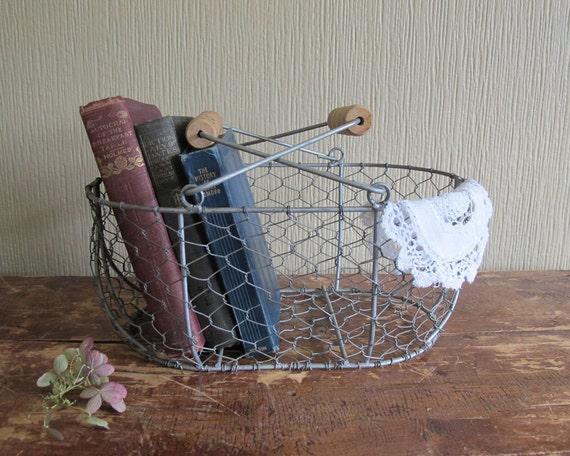 Antique Rustic Wire Basket