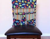 Tie Up Travel High Chair- Dinosaur Stripe