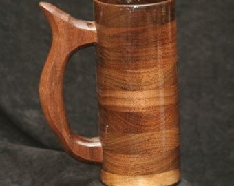 Handcrafted Walnut Wood Mug 16 oz Beer Mug, Tankard, Wood Mug, Wood Beer Mug, Mug, Beer Mug