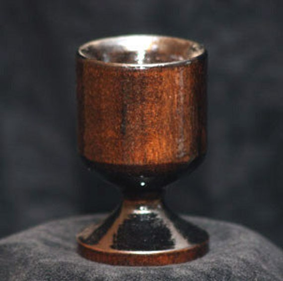Small Wood Shot Glass - Wood Jigger - Remedy Cup - Dark Brown Shot Glass  Small Wood Shot Glass -  One Ounce Small Shot, One ounce Shot