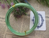 Thickness 10 gauge (2.5mm) - 16 feet - Artistic Aluminum Craft Wire - Green