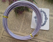Thickness 10 gauge (2.5mm) - 16 feets - Artistic Aluminum Craft Wire - Light Purple