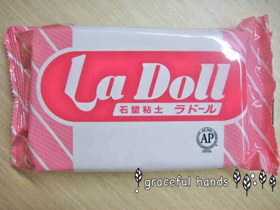 500g La Doll Satin Smooth Natural Stone Modeling Clay (Made in Japan)