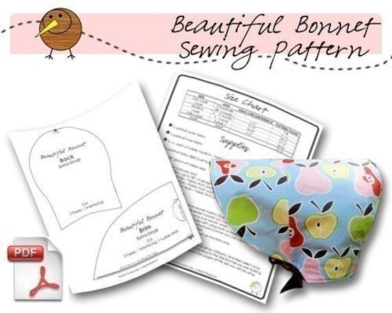 Beautiful Bonnet PDF Sewing Pattern