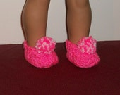 18inch - Doll Slippers in Hot Pink