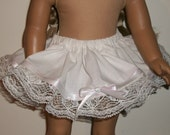 Fits18 inch Doll Half Slip with Lace and Ribbon Trim