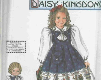 Daisy Kingdom Pattern 9859 - Sz. 5, 6, 7, 8  and 18in. doll