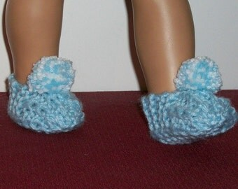 18inch Doll - Slippers in Baby Blue