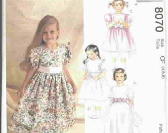 McCall's Pattern 8070  -  (4-5-6) for girls
