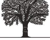 Leafy Family Tree Print