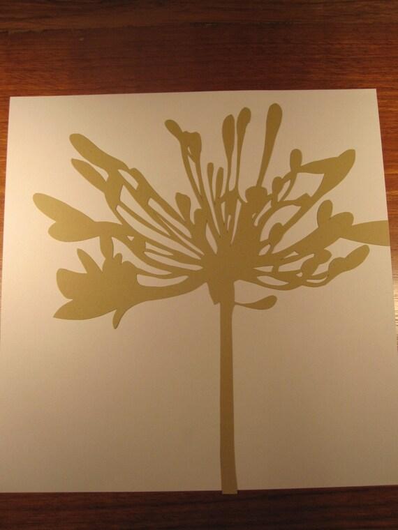 Custom Floral Silhouette Cut Out for J. Jones