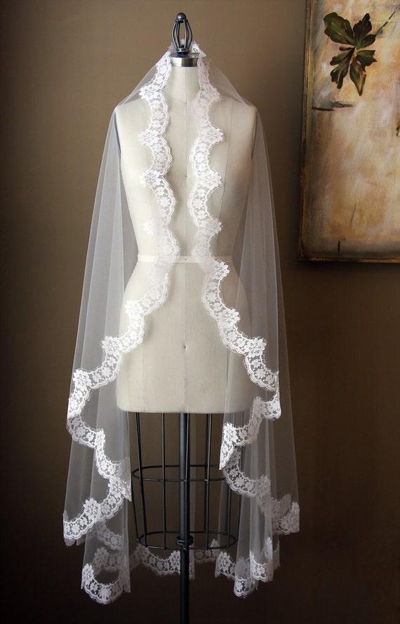 Mantilla Style Veil - The Maria Veil