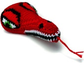 Red Dragon Crochet Saddle Cover