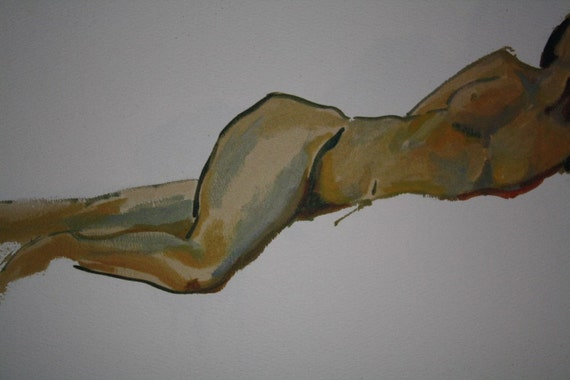 Nude Study of a Woman Turning No. 2 - Giclee Print of Original Oil Painting by Lauralynn White