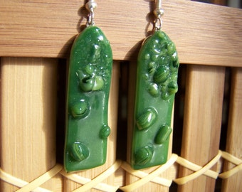 asparagus earrings
