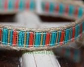 """Hemp Dog Collar - Santa Fe (5/8"""" wide)"""