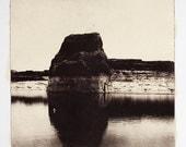 Lone Rock-etching(Free Shipping)