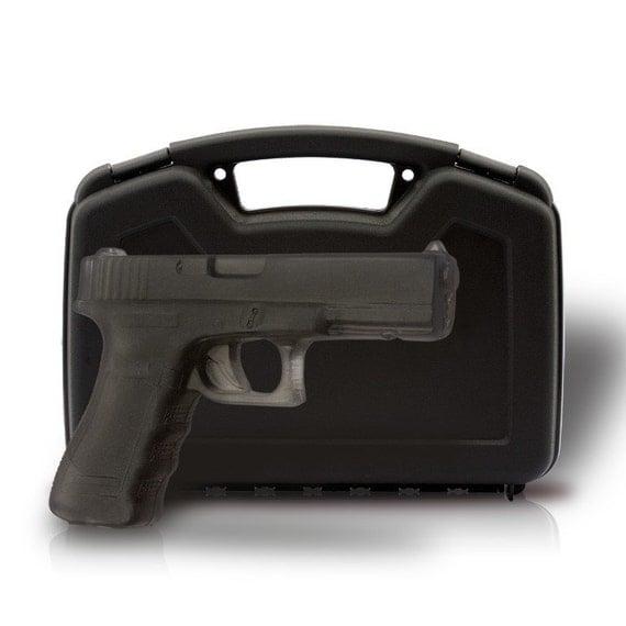 GUN SOAP - Soap Gun 'The Black Stallion' Full Sized Soap Handgun w/ REAL Gun Case!