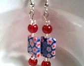 Hooray for the Red White and Blue Millefiore Earrings