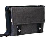 iPad Messenger Bag Padded -  Wool Large Herringbone iPad Messenger Bag