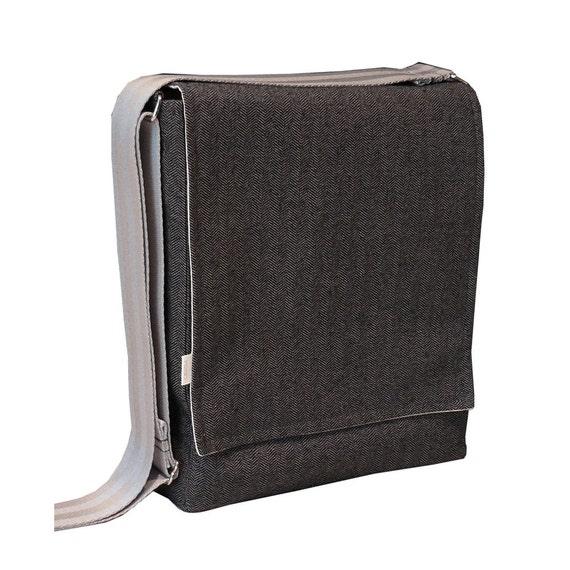 sleek messenger bag macbook air sleek gray herringbone