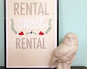 Rental Sweet Rental - 11x17 Illustration Print