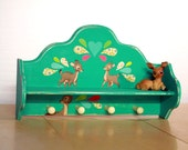 OH DEER: Remixed Vintage Shelf with Hooks