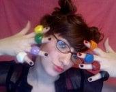 Set of 8 KIDS Bling Crayon Rings - Set of 8 - size 4