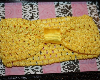2 3/4 Yellow Crochet Headband