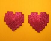 8 Bit heart pasties