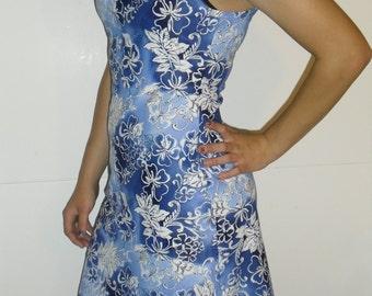 Womens small blue spandex dress