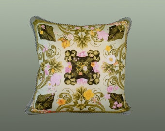 Spring Pillow - Green/Yellow/Pink