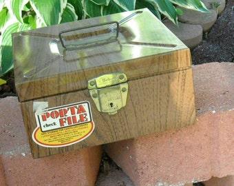 Vintage Retro Metal File Cabinet