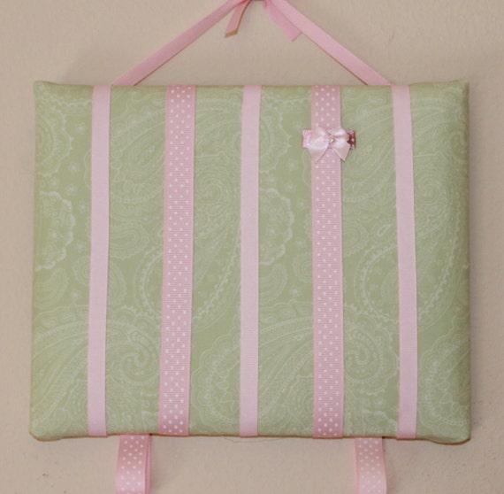 Hailey - 8 x 10 Bow Board Baby Girl Hair Clip Barrette Bow Holder Organizer Frame