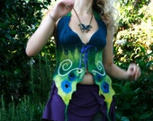 Felted clothing - nuno felt - silk merino wool Woodland Butterfly MADE TO ORDER,