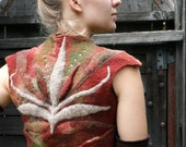 Nuno-felted wool vest The Bold Elf Insignia Vest SOLD OUT but can be made by order